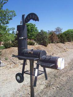 -bbq smoker grill mailbox