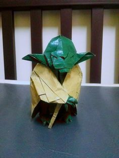 origami Old Jedi Master by wasunorigami Origami Yoda, My Works, Minions, Science Fiction, Paper Art, Design, Sci Fi, Papercraft, The Minions