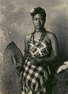 Polinesic beauty., 1890s.