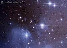 Le Pleiadi sono un ammasso aperto con associata nebulosità, molto brillante e riconoscibile, visibile nella costellazione del Toro. Uri (SS) 27/02/2017
