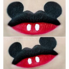 mickey mouse inspired Lips look! #lipstick #red #howto - bellashoot.com