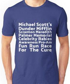 Rabies Awareness 2007 Fun Run-The Office Funny TV Pop Culture Men/'s T-shirt