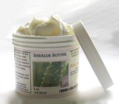 shealoe for moisture for fine natural hair: 50% shea butter, 50% aloe vera gel