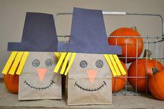 scarecrow themed family fun night: Scarecrow bags
