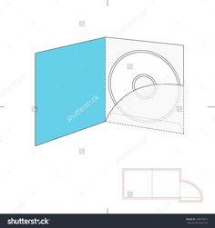 Dvd Media Envelope With Die Cut Pattern Stock Vector Illustration 189879815 : Shutterstock