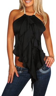 New Status (Black)-Great Glam is the web's top online shop for trendy clubbin styles, fashionable party dress and bar wear, super hot clubbing clothing, stylish going out shirt, partying clothes, super cute and sexy club fashions, halter and tube tops, be