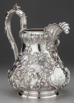 A VINCENT LAFORME & BROTHERS COIN SILVER WATER PITCHER, Lot 75061