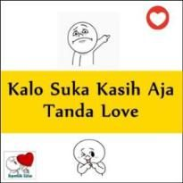 kasih tanda love