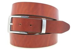 Men's dress belt Show Harness tan leather nickel buckle and loop set