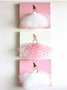 Girl Nursery Decor Ballerina Art Baby Girl by ShenasiConcept