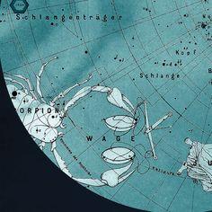 Scorpius Constellation Stars Map Zodiac  Print Vintage Image