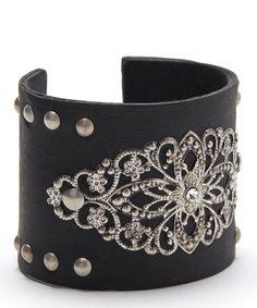 Silver & Black Overlay Cuff #zulily #zulilyfinds