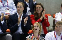 Royal Watch: William And Kate Watch Olympic Swimming - Swimming Slideshows | NBC Olympics