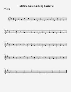 Nice free printable: One Minute Note-Naming Exercise for orchestra classroom