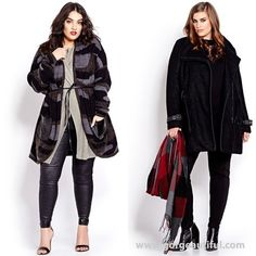 Plus Size Fashion Coats Fall Winter 2015 by Addition Elle