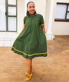Pedi Traditional Attire, Sepedi Traditional Dresses, South African Traditional Dresses, Traditional Wedding, Short African Dresses, African Fashion Dresses, Seshweshwe Dresses, African Print Wedding Dress, African Attire