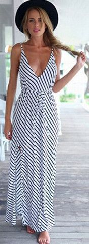 Cupshe More Than a Feeling Striped Cami Dress