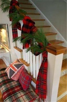 Plaid scarf railing garland @ Common Ground: Add a Little Plaid...