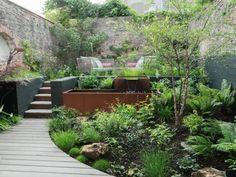 Little Gardens, Small Gardens, Bristol Garden, Small Yard Landscaping, Landscaping Ideas, Brick Garden, Side Garden, Herb Garden, Japanese Landscape