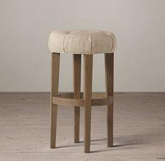 Bennett Round Upholstered Stool