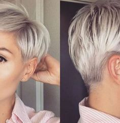 Blonde Pixie Cut - 90 Classy and Simple Short Hairstyles for Women over 50 - The Trending Hairstyle Short Pixie Haircuts, Pixie Hairstyles, Short Hairstyles For Women, Cool Hairstyles, Edgy Short Hair, Short Hair Cuts, Short Hair Styles, Blonde Pixie Cuts, Hair Color For Women