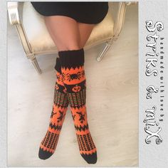 Check out this item in my Etsy shop https://www.etsy.com/listing/475030789/hand-knit-halloween-socks-pumpkin-spider