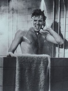 Elvis in the shower!