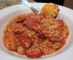 Slow Cooker Jambalaya.  Looks good, but it may be too spicy for me. Maybe I could cut it back a little.