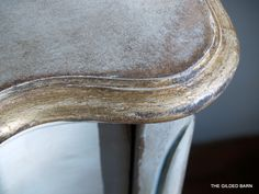 fun to DIY.a little paint, a little wax, a little gold leaf, a little blue/gray in the trim VOILA! Hand Painted Furniture, Distressed Furniture, Paint Furniture, Furniture Projects, Furniture Making, Furniture Makeover, Gold Furniture, Furniture Plans, Diy Projects