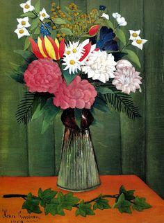 Henri Rousseau - Flowers in a Vase (Nature morte), 1909
