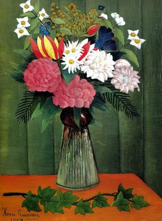 Henri Rousseau - Flowers in a Vase (Nature morte), 1909