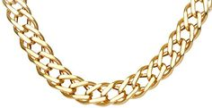 Citerna 9ct Yellow Gold Chunky Double Curb Necklace Chain - 7mm width *** undefined