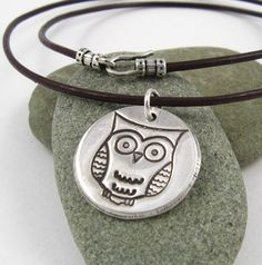 Silver Owl Necklace Woodland Owl Necklace