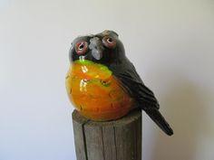 #14  Owl - $69 Old Fashioned Sweet Shop, Julie Lee, Havelock North, Ceramic Birds, Garden Art, Owl, Pottery, Gardening, Ceramics