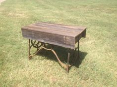 "Wood Top Sewing Table  $130.00  Rustiquities Vendor ""BL"" or "" pumpkin guy""  Red Barn 305 W Madison Waxahachie, Tx 75165  Open: Wed-Sat.   9:00 to 5:00 Sunday.     11:00 to 5:00  Like us"