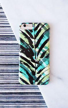 tropical palm print phone case. #pattern