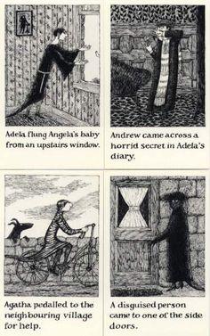 The Helpless Doorknob a shuffled Story Edward Gorey John Kenn, Afraid Of The Dark, Ink Pen Drawings, Ink Illustrations, Fairy Land, Surreal Art, Macabre, American Artists, Dark Art