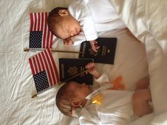 Surrogate twins have their passports and are ready to return home with their parents #surrogacy #ivf #international