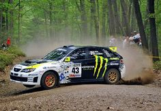 Old shot of Ken Block in his Subaru... Look at the brakes! Flaming HOT!!!