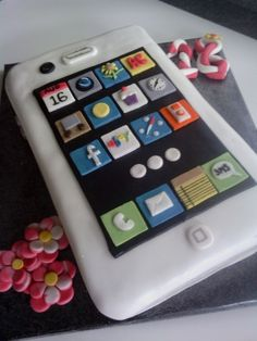 www.facebook.com/cakecoachonline - sharing...Iphone 18th birthday cake, fab cake