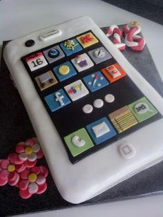 www.facebook.com/cakecoachonline - sharing...Iphone 18th birthday cake, fab cake