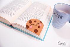 Cookie with chocolate chips bookmark corner bookmark di Lanatema