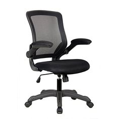 The Techni Mobili Mesh Task Office Chair with Flip-Up Arms is a fun lightweight office chair with flip-up arms. It features breathable mesh back support adjustable tilt tension control and pneumati...