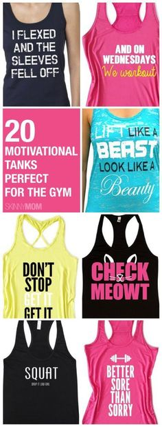 I want the first one. I flexed and the sleeves fell off....Can't. Stop. Laughing. I want that problem. Ha.