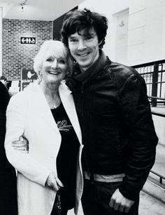 Benedict and his mom. That's just cute.