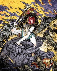 Girls Fact Fiction Princess Mononoke by Kyle Stecker                                                                                                                                                                                 Plus