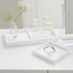 Lacquer Dressing Table Trays - Set of 3 | Decorative Accessories | Home Accessories | Home | The White Company UK