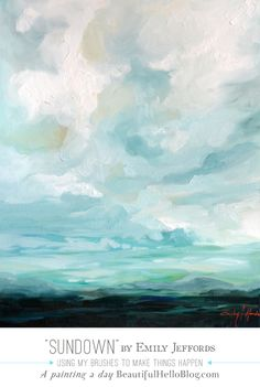 """Sundown"" Oil Landscape Painting by Emily Jeffords A-Painting-A-Day for $100"