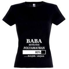 Baba betöltése folyamatban kismama póló fekete