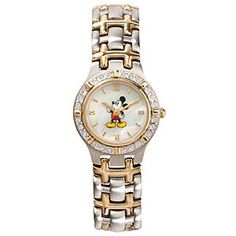 Disney Two-Tone Spirit Mickey Mouse Watch | Disney StoreTwo-Tone Spirit Mickey Mouse Watch - Mickey Mouse is here to make sure that you're always keeping track of time in his signature cheerful manner. Our stainless steel two-tone metal link Mickey Mouse Watch features a sparkling bezel and Japanese movement.